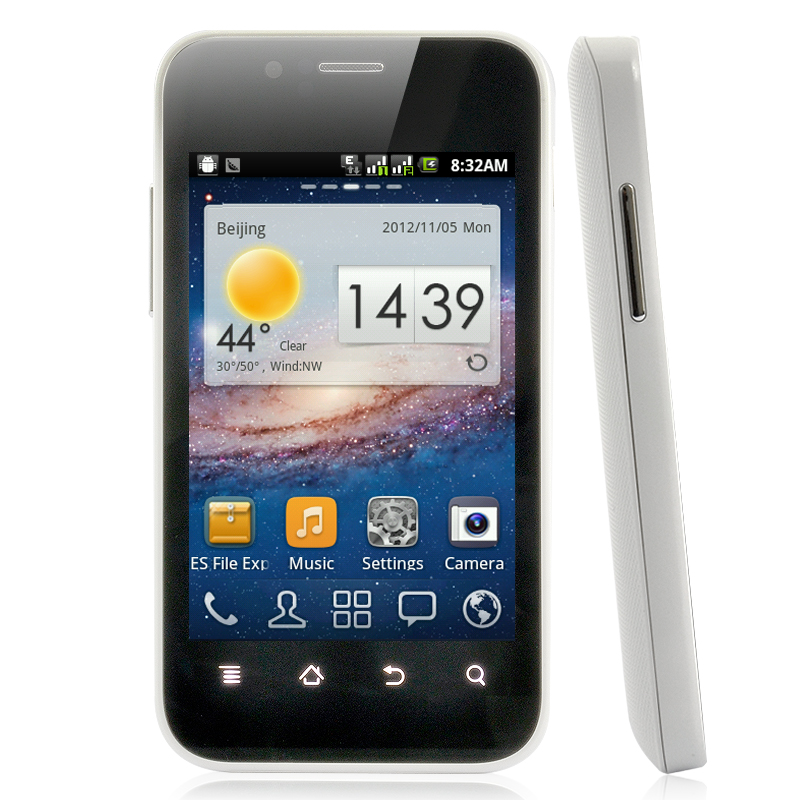 Android 3.5 Inch Phone - 1GHz, Dual SIM, White  OA1684